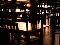 Sunrise in restaurant Royalty Free Stock Photography