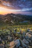 Sunrise in Retezat Mountains Stock Images