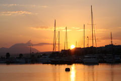 Sunrise of Retymno on Crete Stock Photo
