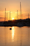 Sunrise of Retymno on Crete Stock Photography