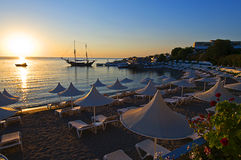 Sunrise in Rhodos Stock Photo
