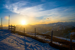 Sunrise on Rigi Alp, Switzerland Royalty Free Stock Photography