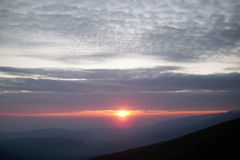 Sunrise in Rila Mountain 1 Royalty Free Stock Photo