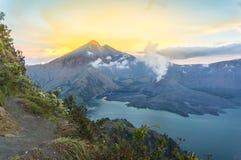 Sunrise at rinjani mount Stock Photography