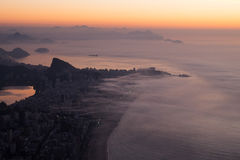 Sunrise in Rio de Janeiro, Brazil Royalty Free Stock Photography