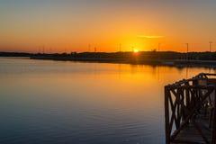 Sunrise in Rio Lagartos Stock Photography
