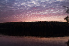 Sunrise. At a river. Autumn royalty free stock photography