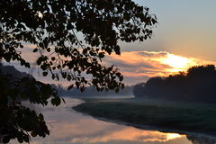 Sunrise on the river Royalty Free Stock Images