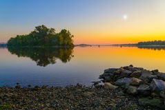 Sunrise on the River Royalty Free Stock Photos