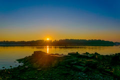 Sunrise on the River Stock Photography