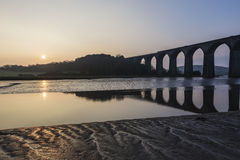 Sunrise on the river lynher with beautiful sky , cornwall, uk Stock Image