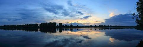 Sunrise on the river Oka. Irkutsk region, Russia Stock Images