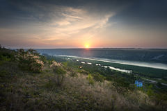 Sunrise on river Royalty Free Stock Photography