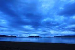 Sunrise on the river Yenisei. Republic of Khakassia, Russia Royalty Free Stock Images