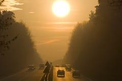 Sunrise road Stock Photo