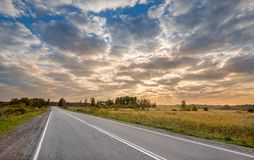 Sunrise at the road Royalty Free Stock Photo