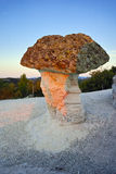 Sunrise at a rock phenomenon The Stone Mushrooms, Bulgaria Royalty Free Stock Photo