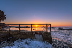 Sunrise on the Rockpool Stock Photos