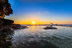 Sunrise on the Rockpool Royalty Free Stock Photography