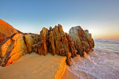 Sunrise Rocks Stock Photo