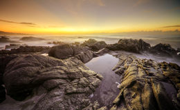 Sunrise rocks, South Africa Royalty Free Stock Images