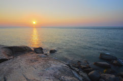 Sunrise at rocky beach in terengganu, malaysia. image taken with Stock Images