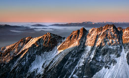 Sunrise in rocky mountain Royalty Free Stock Image