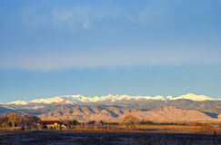 Sunrise on the Rocky Mountains Stock Image