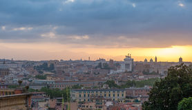 Sunrise in Rome Royalty Free Stock Photo