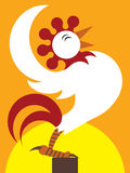 Sunrise Rooster Royalty Free Stock Photos