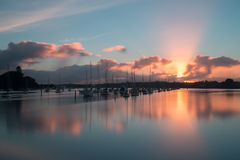 Sunrise, Rotary walkway, Auckland, New Zealand Royalty Free Stock Photos