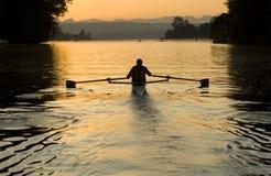 Sunrise Rower Stock Image
