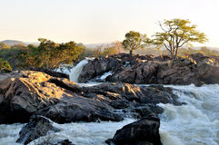 Sunrise at the Ruacana Falls Namibia Royalty Free Stock Images