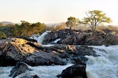 Sunrise at the Ruacana Falls Namibia Royalty Free Stock Images