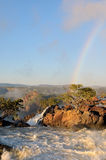Sunrise at the Ruacana waterfall, Namibia Royalty Free Stock Image