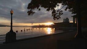 Sunrise Run, Coal Harbor, Vancouver stock footage
