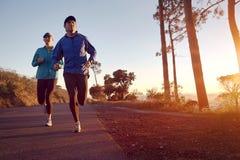 Sunrise run Royalty Free Stock Images