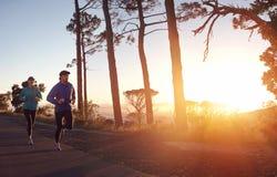 Sunrise run Royalty Free Stock Photo