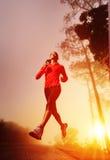 Sunrise running woman Royalty Free Stock Photo