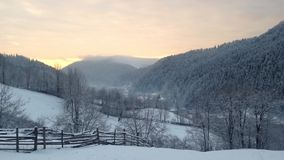 Sunrise rural landscape stock video footage