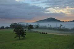 Sunrise in rural New South Wales Stock Photos