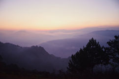 Sunrise in sagada royalty free stock photography