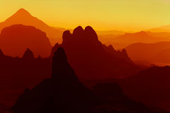 Sunrise in Sahara Desert Royalty Free Stock Images
