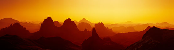 Sunrise in Sahara Desert Royalty Free Stock Photography