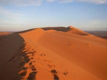 Sunrise in Sahara desert Royalty Free Stock Photo