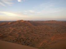 Sunrise in Sahara desert Stock Photo