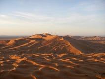 Sunrise in Sahara desert Stock Images