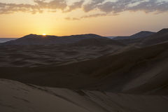 Sunrise in the Sahara Desert, Morocco. Morocco. Africa. Sunrise in the Sahara Desert, Morocco Africa. Beautiful sunrise in the sahara Royalty Free Stock Photos