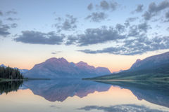 Sunrise Saint Mary Lake Reflection Royalty Free Stock Photography