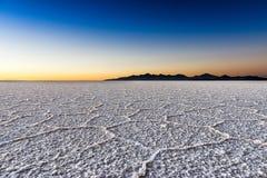 Sunrise in the Salar de Uyuni. Bolivia Royalty Free Stock Photo